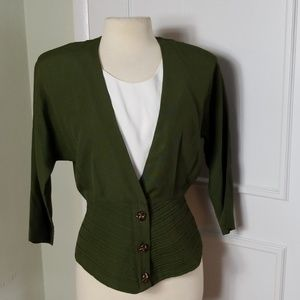 Vintage late 80s early 90s Army Green Blazer